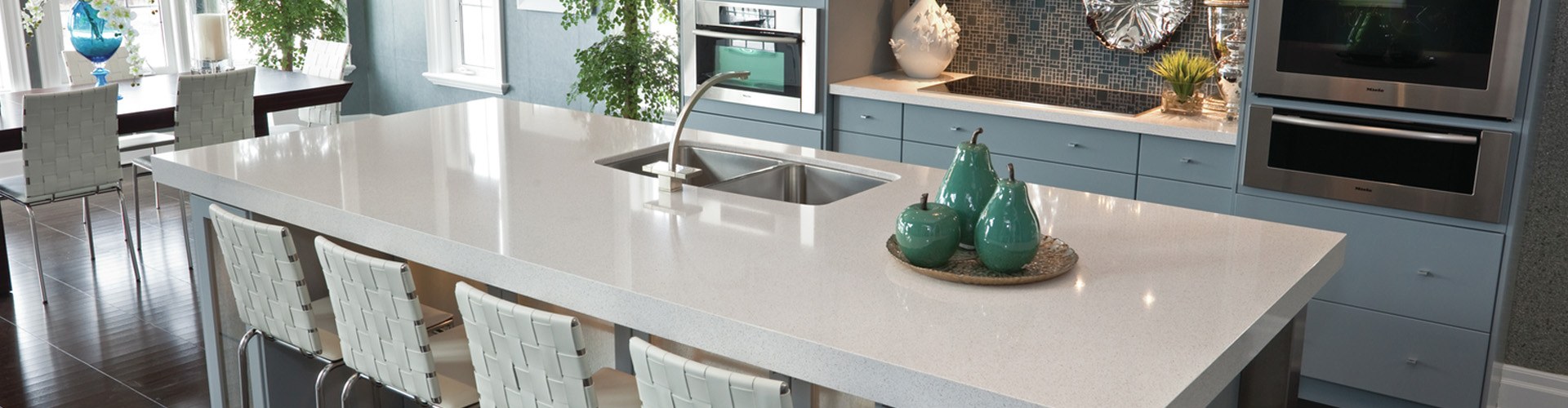 pure white ceaserstone countertop